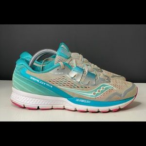 Womens Saucony Zealot ISO 3 Blue Running Shoes